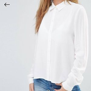 Asos jdy white button up blouse
